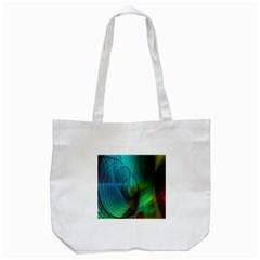 Background Nebulous Fog Rings Tote Bag (white)