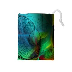 Background Nebulous Fog Rings Drawstring Pouches (medium)