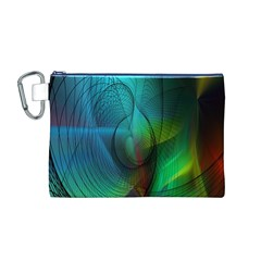 Background Nebulous Fog Rings Canvas Cosmetic Bag (m)