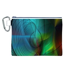 Background Nebulous Fog Rings Canvas Cosmetic Bag (l)