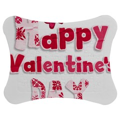 Happy Valentines Day Busy Jigsaw Puzzle Photo Stand (Bow)