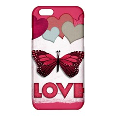 Pink Butterfly Love iPhone 6/6S TPU Case