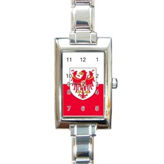 Flag of South Tyrol Rectangle Italian Charm Watch