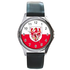 Flag of South Tyrol Round Metal Watch