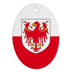 Flag of South Tyrol Ornament (Oval)