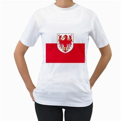 Flag of South Tyrol Women s T-Shirt (White) (Two Sided)