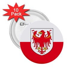 Flag of South Tyrol 2.25  Buttons (10 pack)