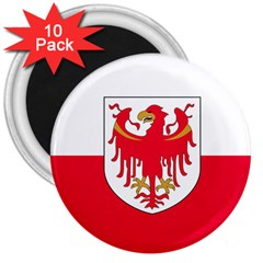 Flag of South Tyrol 3  Magnets (10 pack)