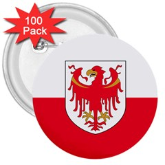 Flag of South Tyrol 3  Buttons (100 pack)