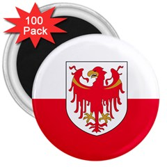 Flag of South Tyrol 3  Magnets (100 pack)