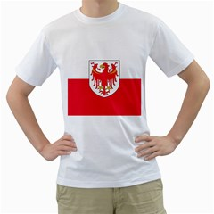 Flag of South Tyrol Men s T-Shirt (White) (Two Sided)