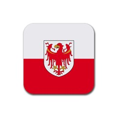 Flag of South Tyrol Rubber Coaster (Square)