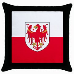 Flag of South Tyrol Throw Pillow Case (Black)