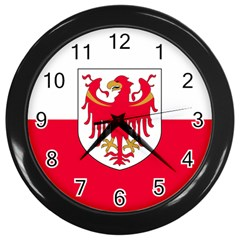 Flag of South Tyrol Wall Clocks (Black)
