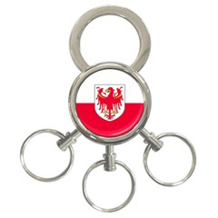 Flag of South Tyrol 3-Ring Key Chains