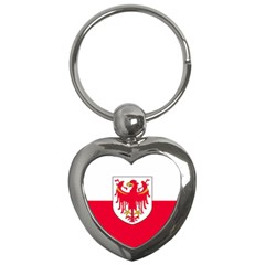 Flag of South Tyrol Key Chains (Heart)