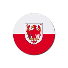 Flag of South Tyrol Rubber Round Coaster (4 pack)