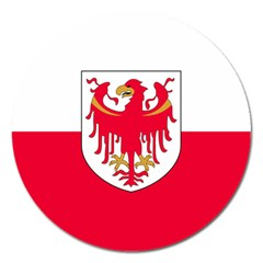 Flag of South Tyrol Magnet 5  (Round)