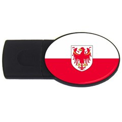 Flag of South Tyrol USB Flash Drive Oval (1 GB)