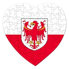 Flag of South Tyrol Jigsaw Puzzle (Heart)