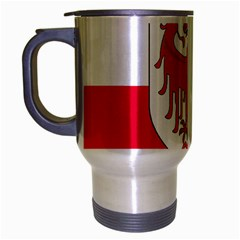 Flag of South Tyrol Travel Mug (Silver Gray)