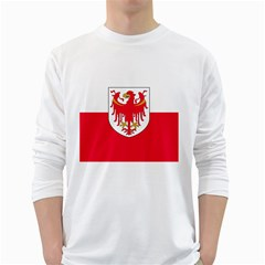 Flag of South Tyrol White Long Sleeve T-Shirts