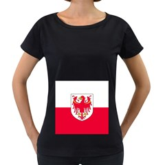 Flag of South Tyrol Women s Loose-Fit T-Shirt (Black)
