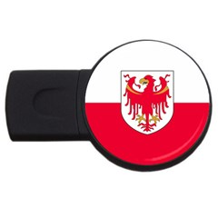 Flag of South Tyrol USB Flash Drive Round (4 GB)