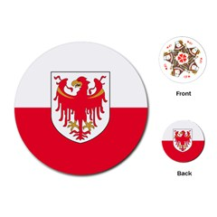 Flag of South Tyrol Playing Cards (Round)