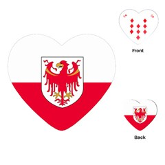 Flag of South Tyrol Playing Cards (Heart)