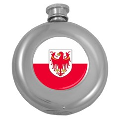 Flag of South Tyrol Round Hip Flask (5 oz)