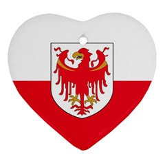 Flag of South Tyrol Heart Ornament (Two Sides)