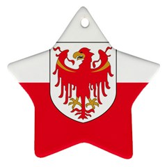 Flag of South Tyrol Star Ornament (Two Sides)