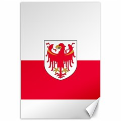 Flag of South Tyrol Canvas 12  x 18