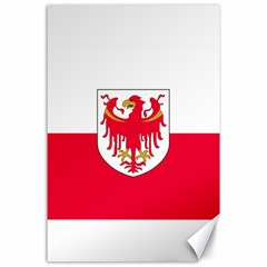 Flag of South Tyrol Canvas 24  x 36