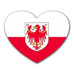 Flag of South Tyrol Heart Mousepads