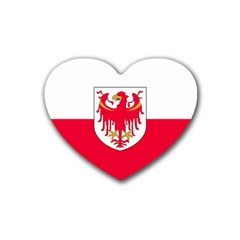 Flag of South Tyrol Rubber Coaster (Heart)