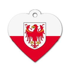 Flag of South Tyrol Dog Tag Heart (Two Sides)