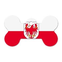 Flag of South Tyrol Dog Tag Bone (One Side)