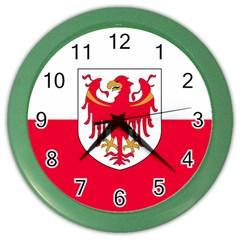 Flag of South Tyrol Color Wall Clocks