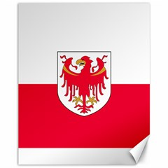 Flag of South Tyrol Canvas 11  x 14