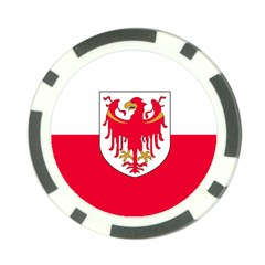 Flag of South Tyrol Poker Chip Card Guard (10 pack)