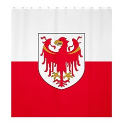 Flag of South Tyrol Shower Curtain 66  x 72  (Large)