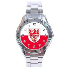Flag of South Tyrol Stainless Steel Analogue Watch