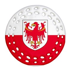 Flag of South Tyrol Round Filigree Ornament (Two Sides)
