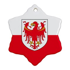 Flag of South Tyrol Snowflake Ornament (Two Sides)