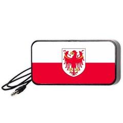 Flag of South Tyrol Portable Speaker (Black)