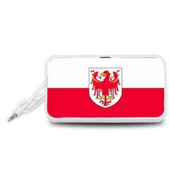 Flag of South Tyrol Portable Speaker (White)