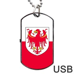 Flag of South Tyrol Dog Tag USB Flash (One Side)