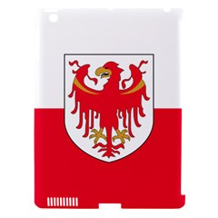 Flag of South Tyrol Apple iPad 3/4 Hardshell Case (Compatible with Smart Cover)